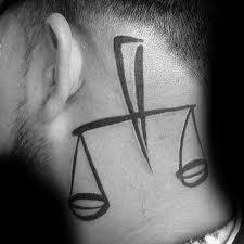 60 libra tattoos for men balanced scale ink design ideas