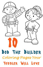 10 free printable bob builder coloring pages bob