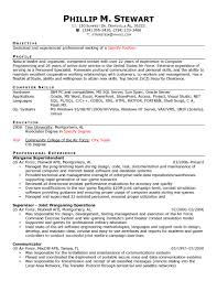 sample computer programmer resume resume examples hospitality management professional experience military resume samples regarding military transition resume
