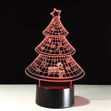 aliexpress com buy 7 color changing christmas tree night light