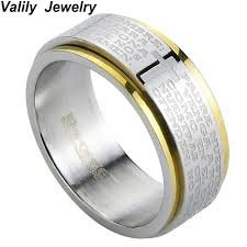 bible verse jewelry online shop valily jewelry new arrival men ring spinner party