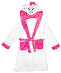 girls horse novelty hooded dressing gown with tail sizes