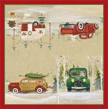 vintage christmas paper 49 up truck napkins vintage christmas napkins park designs