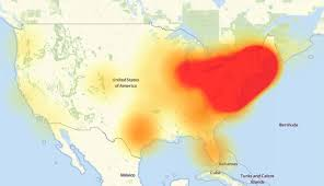 East Coast Map Of United States by Hackers Disrupt Internet Service Of Major Websites With Multiple