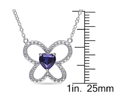 sapphire chain necklace images Gem harmony rakuten lab created blue sapphire butterfly heart jpg