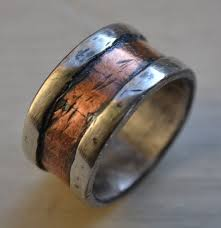 mens hammered wedding bands 8 best rings images on jewelry wedding band rings and