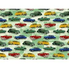 car wrapping paper vintage cars wrapping paper