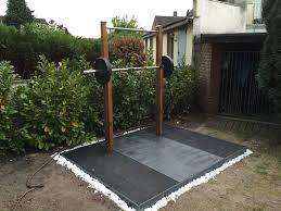 diy outdoor weightlifting platform and rack garage gym reviews