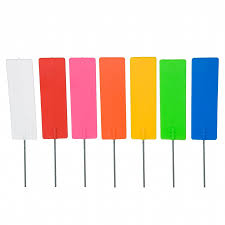 Pin Flags Plastic Pin Marker On 500mm Wire Stake Pack Of 100 Proearth