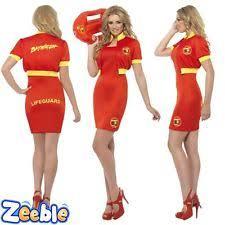 Baywatch Halloween Costume Ladies Baywatch Beach Lifeguard Costume 80s Fancy Dress Womens