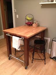 Kitchen Butcher Block Island Ikea Kitchen Island We Built From Scratch 4x4s A Little Stain Ikea