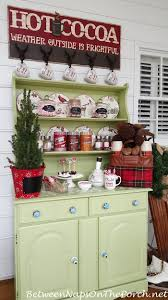 Bar Hutch Create A Cocoa Bar For Winter Entertaining