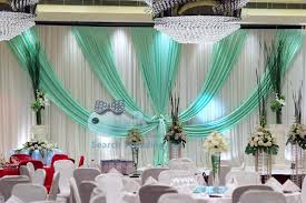 Wedding Backdrop Manufacturers Uk Top Sale White Wedding Backdrop Curtain With Turquoise Color Drape