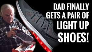 la light up shoes a dad got our light up shoes his reaction is priceless youtube