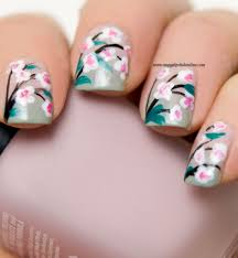 nail art u2013 flowers my nail polish online