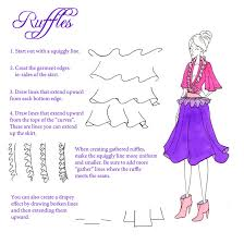 how to draw ruffles and gathers by sufon on deviantart