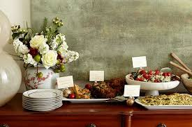 Buffet Set Up by How To Set Up A Buffet On A Dining Table Or Sideboard How To