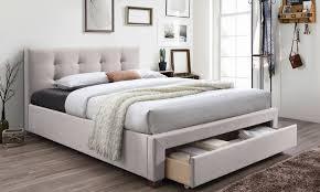 King Storage Platform Bed Upholstered King Platform Bed Groupon Goods