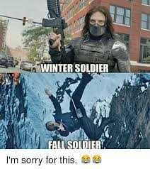 Winter Soldier Meme - winter soldier fall soldier i m sorry for this meme on sizzle