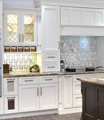 Kitchen Backsplash White Geometric Backsplash Designs And Kitchen Decor Possibilities