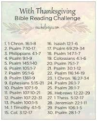 with thanksgiving bible reading challenge bible readings