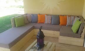 canap en palette avec dossier canap palette dossier inclin tuto salon de jardin en palette