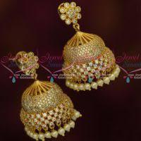 jhumki style earrings in gold jhumka jewelsmart