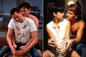 film ghost scene pottery kutcher parodies demi s iconic ghost pottery scene