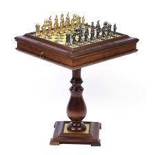 hannibal roman metal chess set hayneedle