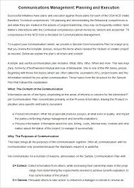 project management communication plan template 7 free word pdf