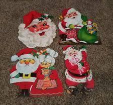 Christmas Cutout Decorations Vintage Christmas Cutouts Ebay