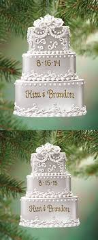 personalized ornaments wedding personalized wedding cake ornament christmas food ornaments i