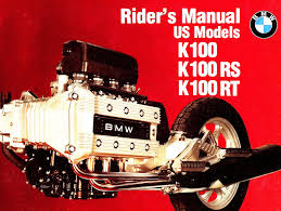 1986 bmw k100 motorcycle owners riders manual bmw k100 k100rs