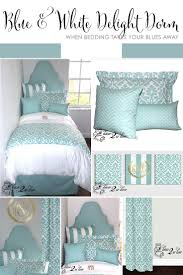 canal blue u0026 white delight designer dorm bedding set bedding set