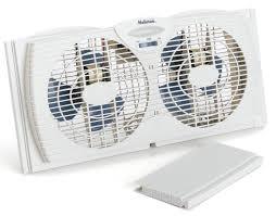 Amazoncom Holmes Dual Blade Twin Window Fan White Home - Bathroom fan window 2
