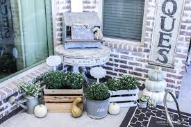 Patio Grow House My Back Patio Is Ready For Fall Pumpkins Mums Vintage Finds