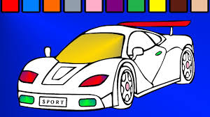 sports car coloring page youtube