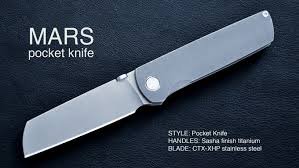 folded steel kitchen knives mars pocket knife a classically inspired modern archetype by