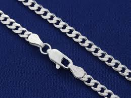 mens necklace chains silver images Sterling silver curb chain mens chain thick chain width jpg