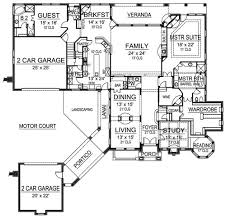 house plans with portico traditional house plan with 5 bedrooms and 5 5 baths plan 4444