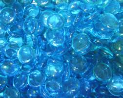 Glass Vase Filler 25 Teal Glass Gems Stones Mosaic Pebbles Centerpiece Flat