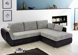 canapé d angle noir et gris canapé d angle taifun noir gris sb meubles discount
