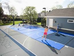 How Much Does A Backyard Basketball Court Cost Gym Floors And Outdoor Courts Installations For Commercial