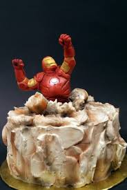 who are you trying to impress buddy iron man cake