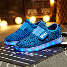 led light up shoes for boys childrens yeezy led magic light up rgb luminous kids casual sneaker