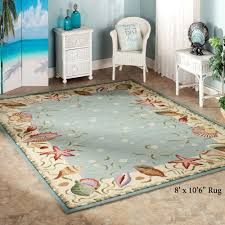 area rugs fabulous coastal area rugs ocean surprise seashell