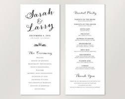wedding program catholic printable infographic wedding program unique wedding