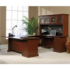 Office Furniture With Hutch by Amazon Com Sauder Office Furniture Heritage Hill Collection