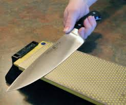 sharpening kitchen knives with a stones for sharpening kitchen cutlery