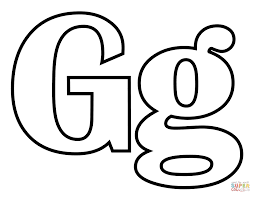 classic letter g coloring page free printable coloring pages